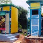 Public Toilet in Sarovaram Bio-Park and the Beach
