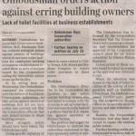 Ombudsman orders action against erring building owners