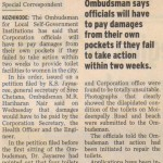 Toilet facilities: Ombudsman cautions Corporation officials