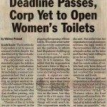 Deadline Passes, Corp Yet to Open Women's Toilets