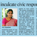 Need to inculcate civic responsibility