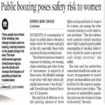 Public boozing poses safety risk to women